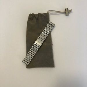 Michele Silver 18mm Deco Bracelet Watchband